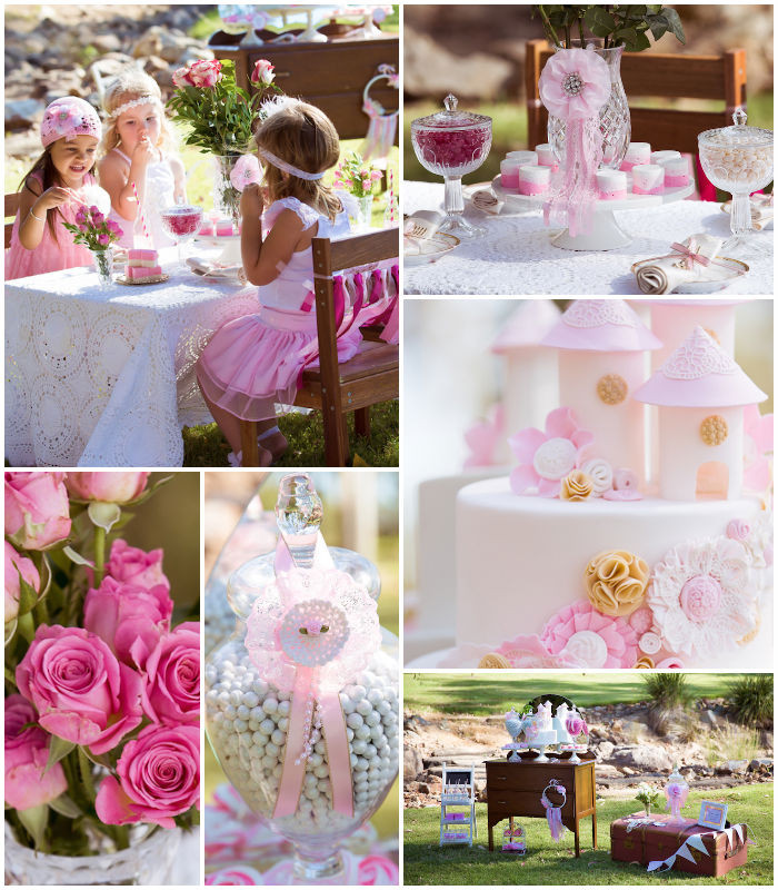 Princess Tea Party Birthday Ideas  Kara s Party Ideas Vintage Princess Themed Birthday Tea