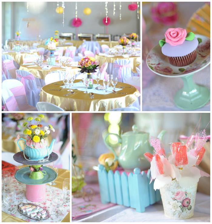 Princess Tea Party Birthday Ideas  Kara s Party Ideas Princess Tea Party