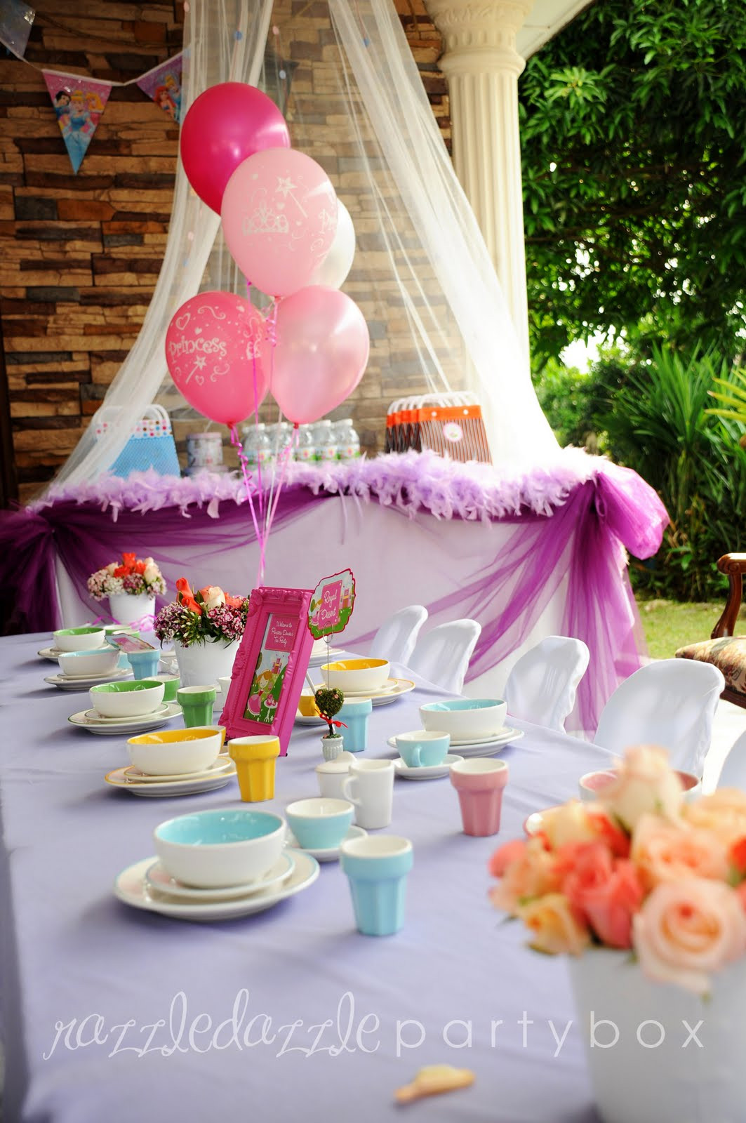 Princess Tea Party Birthday Ideas  Razzle Dazzle Party Box Theme Birthday Party Princess