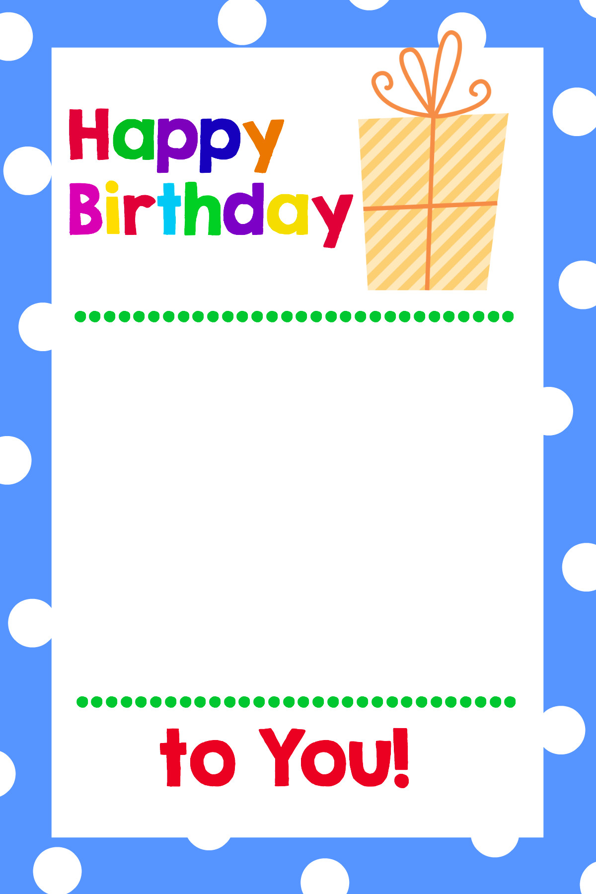 Printable Birthday Card Template  Printable Birthday Gift Card Holders Crazy Little Projects