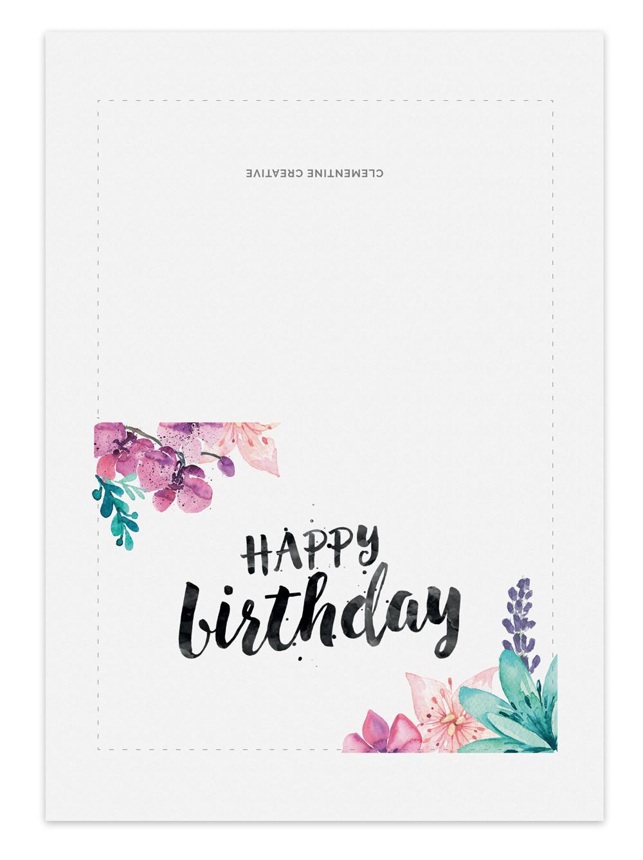 Printable Birthday Card Template  Printable Birthday Card for Her