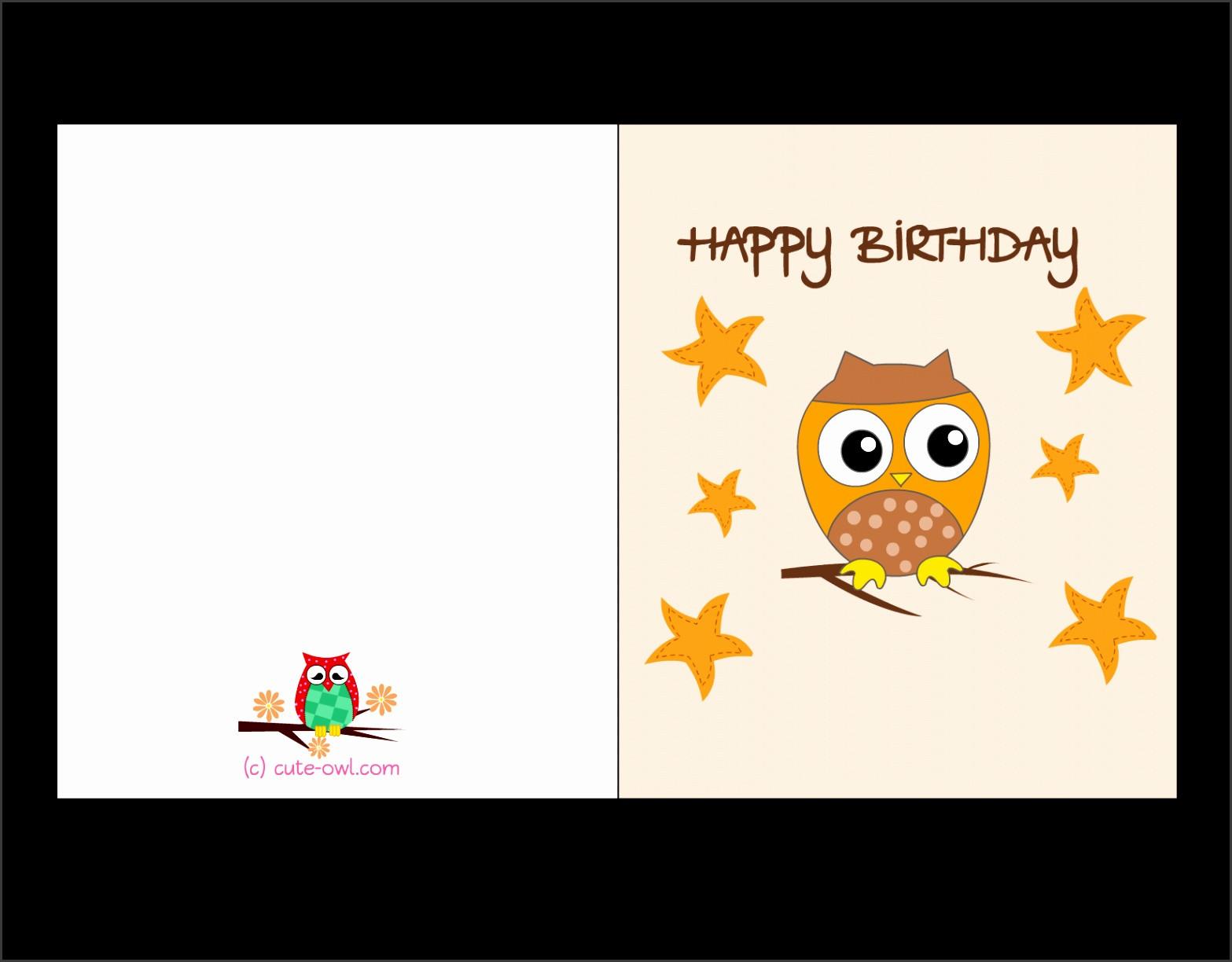 Printable Birthday Card Template  5 Greeting Card Template Free Printable SampleTemplatess