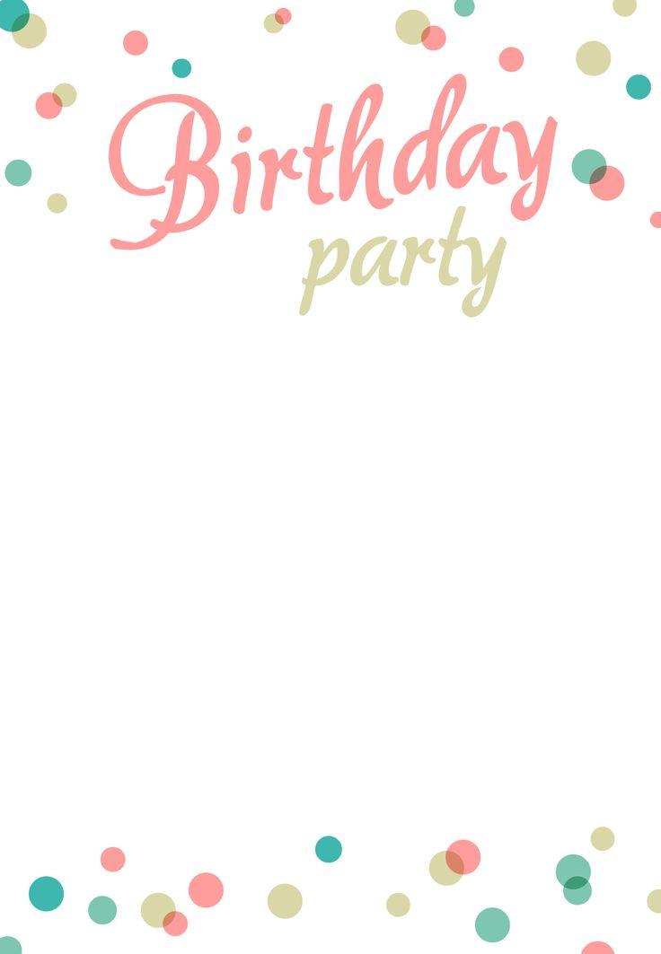 Printable Birthday Card Template  Best 25 Invitation Templates ideas on Pinterest