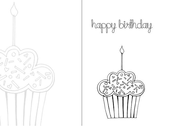 Printable Birthday Card Template  free birthday cards printable online black and white
