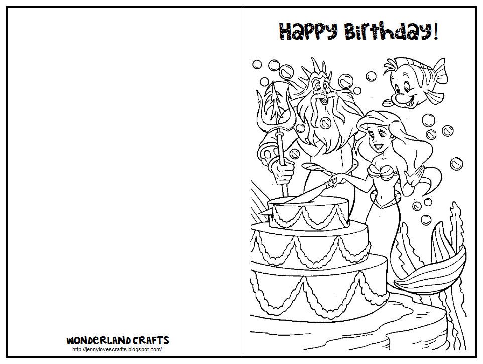 Printable Birthday Card Template  Wonderland Crafts Birthday Cards