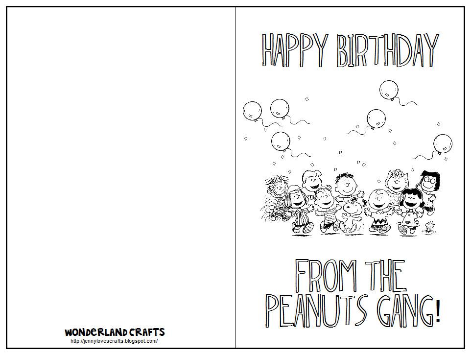 Printable Birthday Card Template  Wonderland Crafts