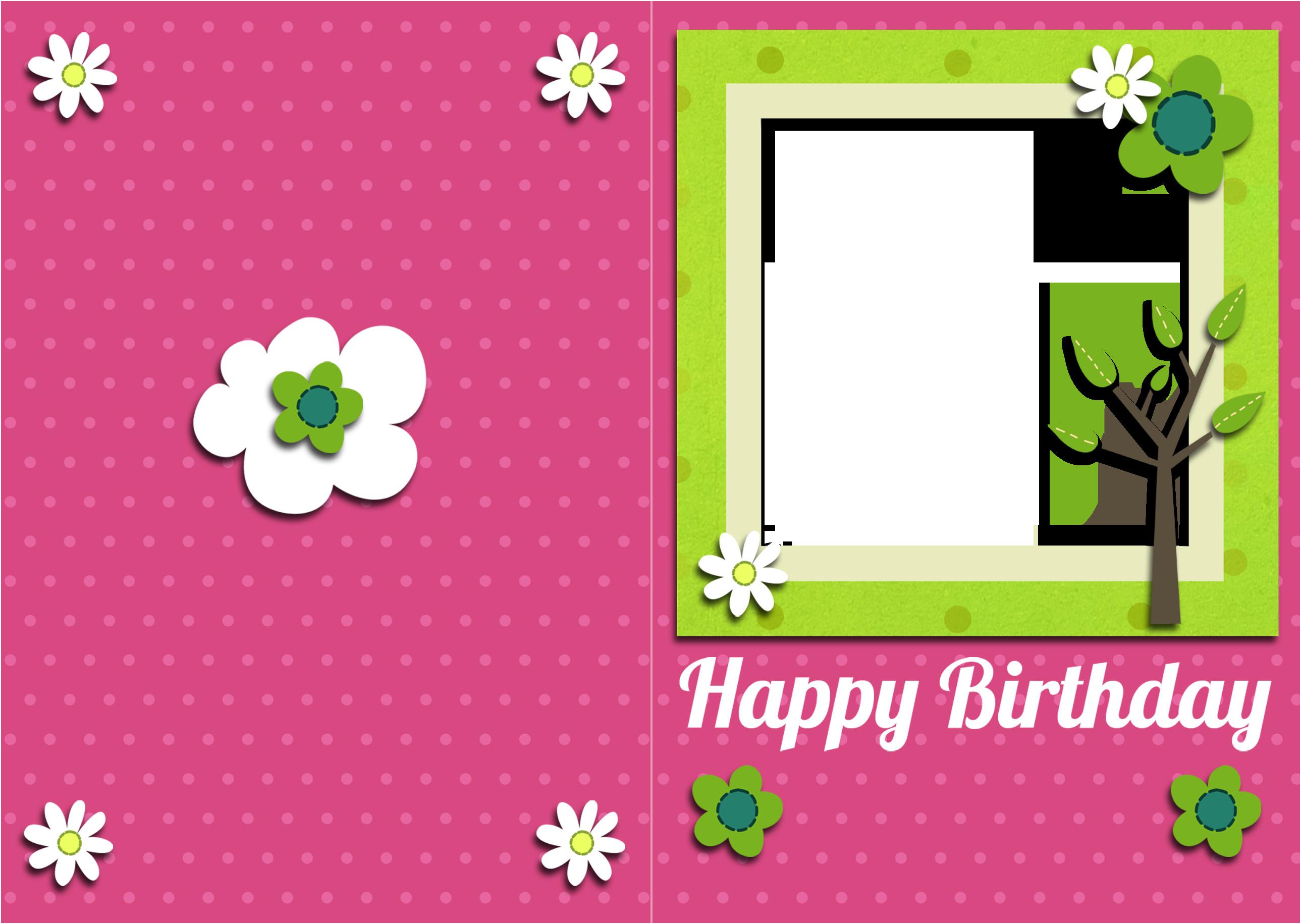 Printable Birthday Card Template  Free To Print Free