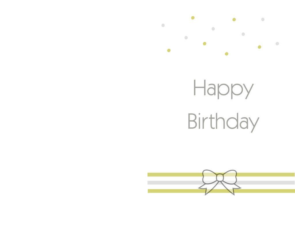 Printable Birthday Card Template  Free Printable Birthday cards ideas – Greeting Card