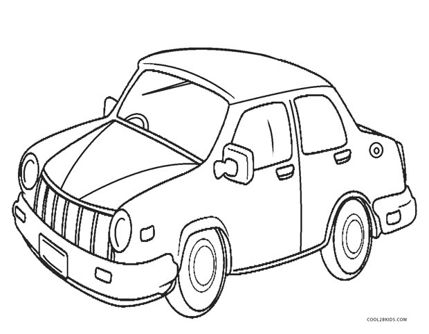 Printable Cars Coloring Pages  Free Printable Cars Coloring Pages For Kids
