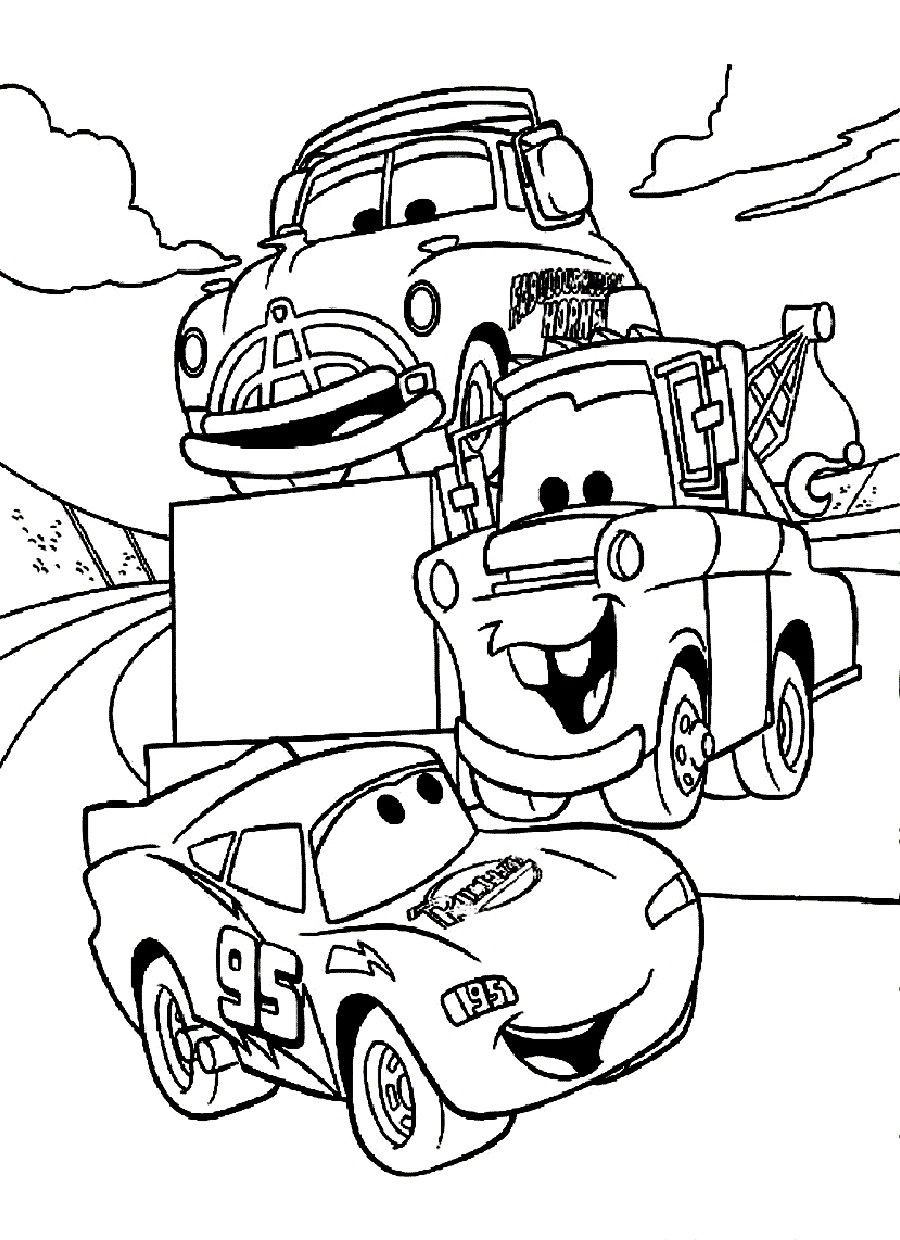 Printable Cars Coloring Pages  disney cars coloring pages Free