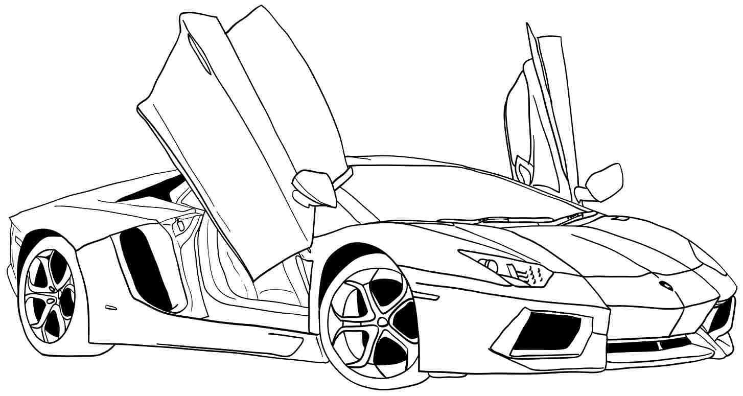 Printable Cars Coloring Pages  Car Coloring Pages Free Printable Coloring Pages
