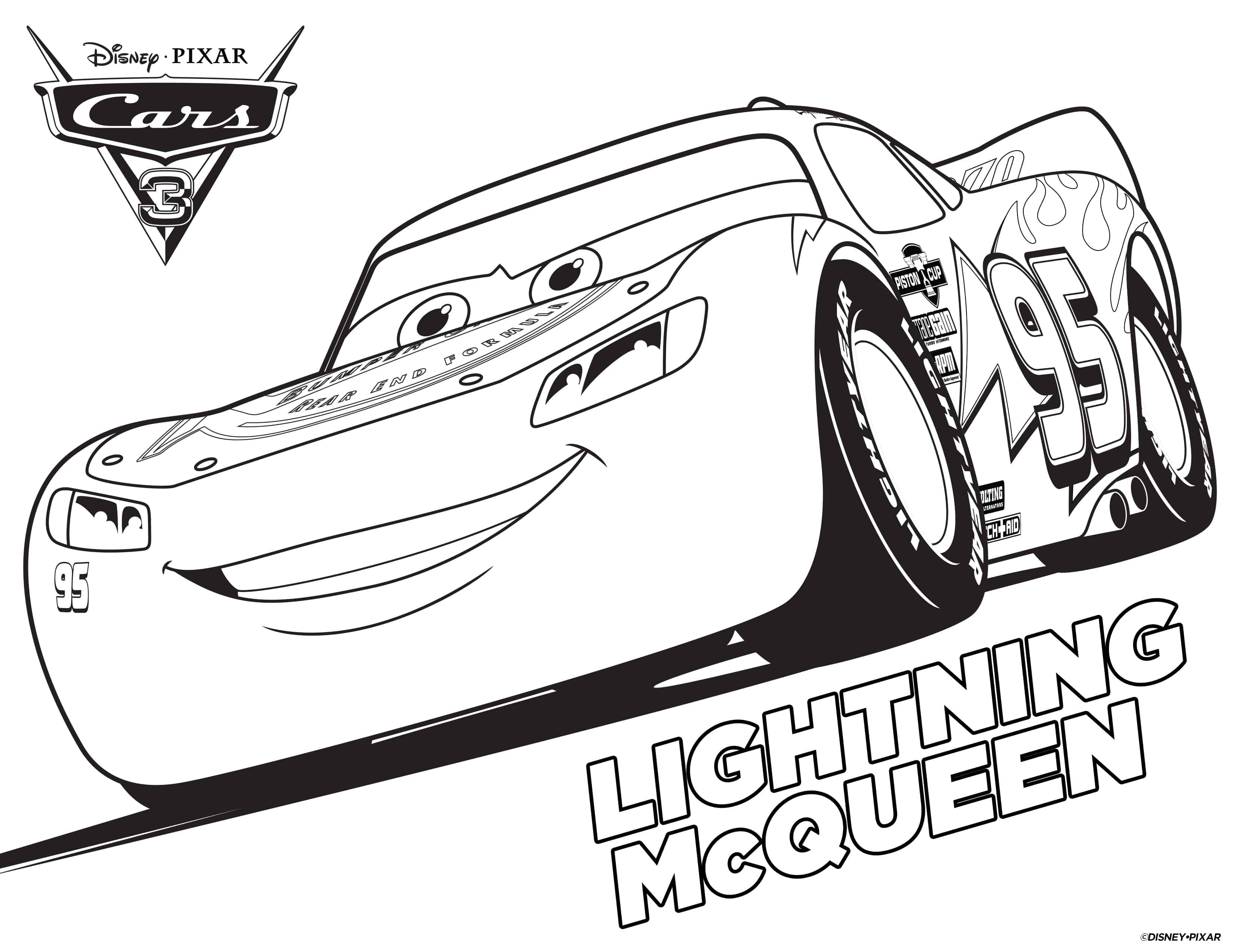 Printable Cars Coloring Pages  FREE Cars 3 Printable Coloring Pages & Activity Sheets