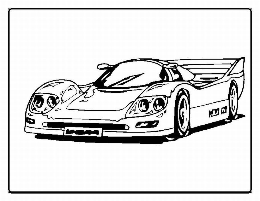 Printable Cars Coloring Pages  Free Printable Race Car Coloring Pages For Kids