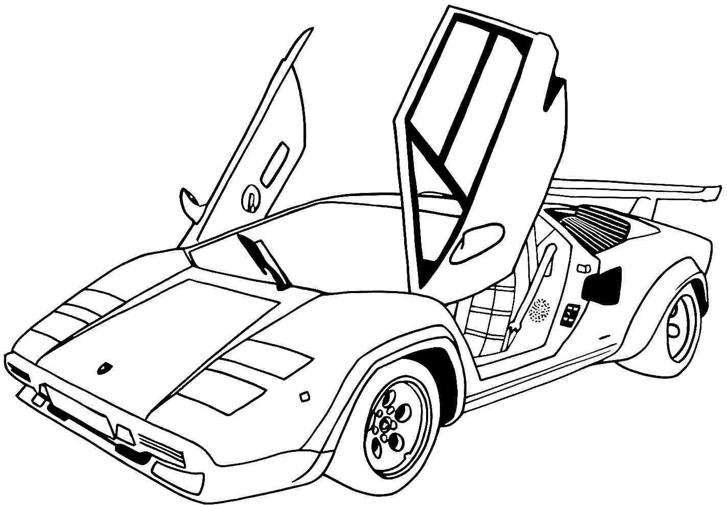 Printable Cars Coloring Pages  Printable Coloring Pages Sports Cars Coloring Home