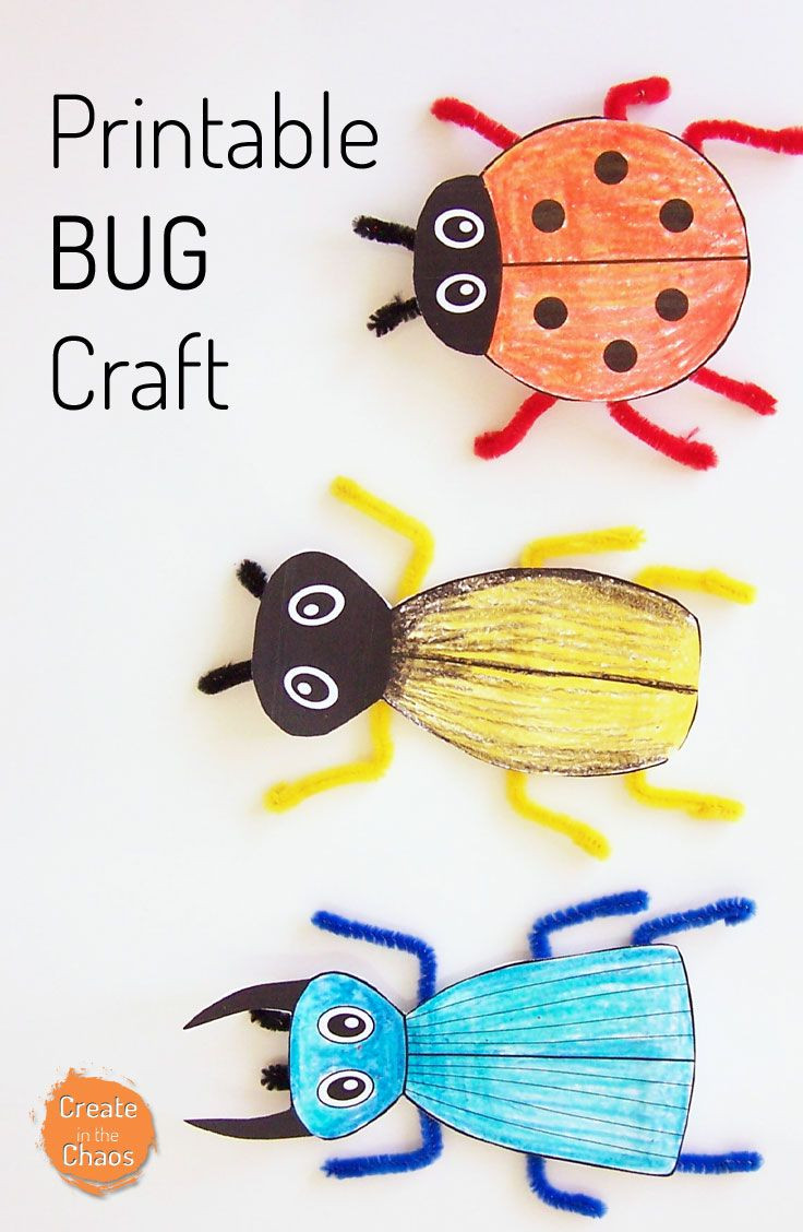 Printable Crafts For Preschoolers  Printable Bug Craft Kids Crafts and Activities
