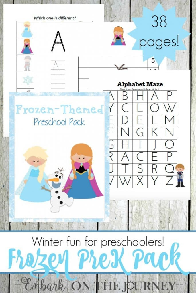 Printable Crafts For Preschoolers  Free Frozen Printables for Preschoolers 38 Pages