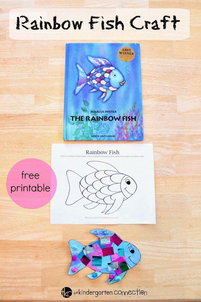 Printable Crafts For Preschoolers  Rainbow Fish Craft