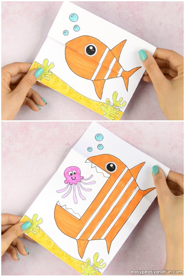 Printable Crafts For Preschoolers  Surprise Big Mouth Fish Printable Easy Peasy and Fun