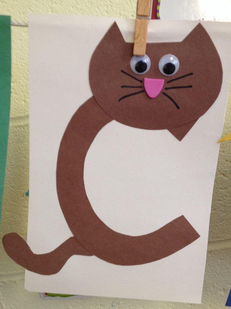 Printable Crafts For Preschoolers  Letter C Crafts for Preschool Preschool and Kindergarten