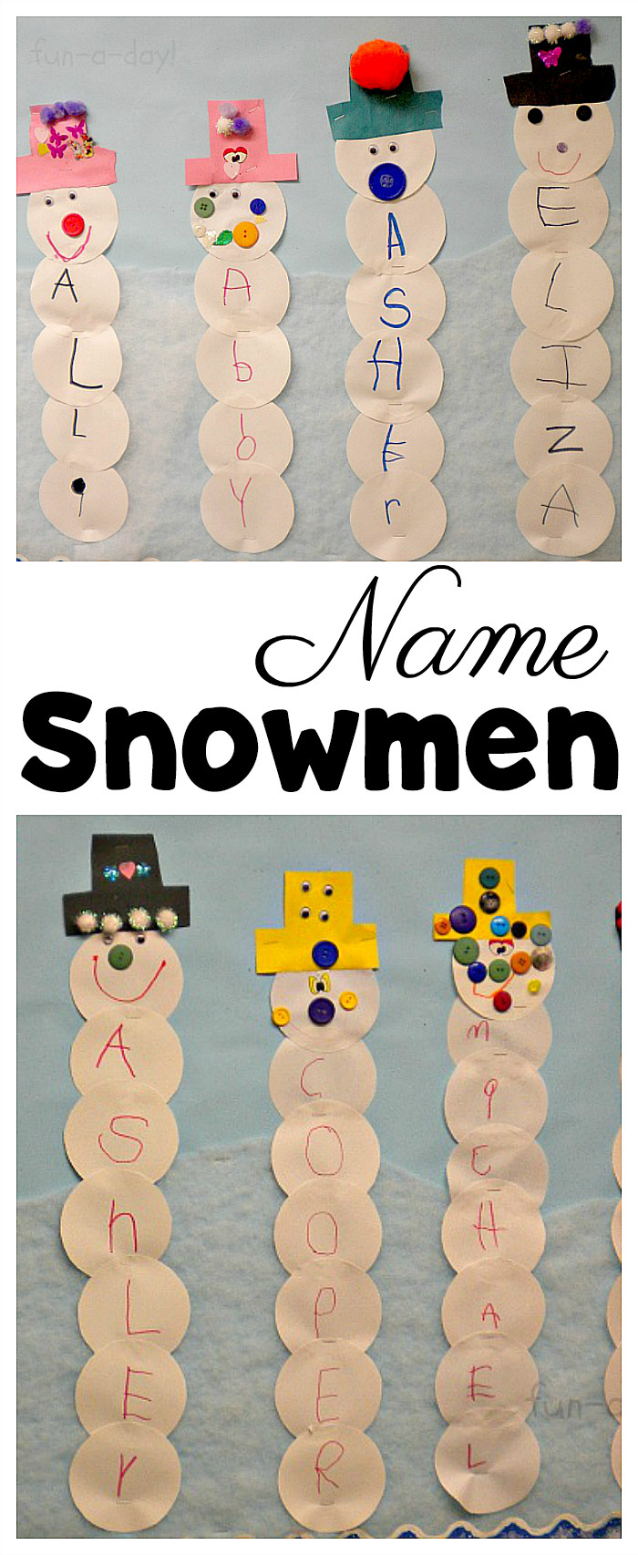 Printable Crafts For Preschoolers  Name Snowman Preschool Craft and Free Printable