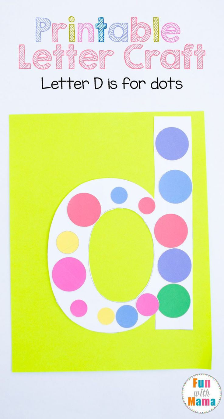 Printable Crafts For Preschoolers  Printable Letter D Crafts D is for Dots