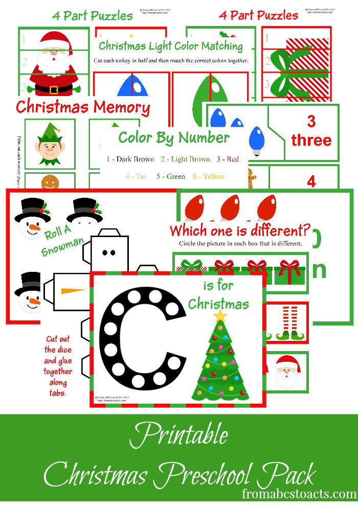 Printable Crafts For Preschoolers  Free Christmas Printables Learning Resources for
