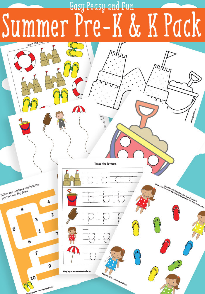 Printable Crafts For Preschoolers  FREE PreK and K Summer Learning Pack