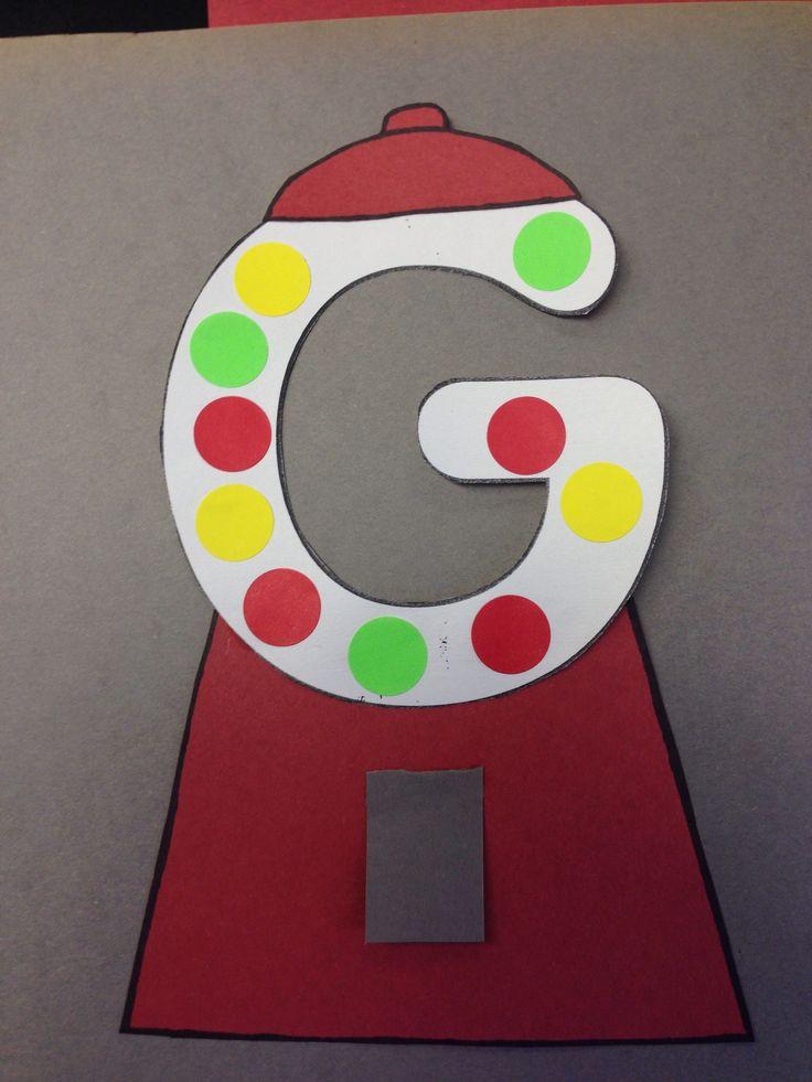 Printable Crafts For Preschoolers  Letter G Crafts Preschool and Kindergarten