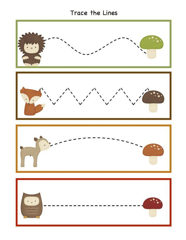 Printable Crafts For Preschoolers  Tracing Fine Motor