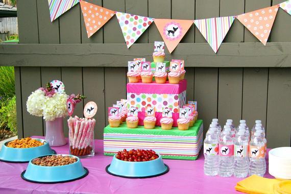 Puppy Birthday Decorations  Dog Birthday Party Dog Baby Shower Dog Birthday by BeeAndDaisy