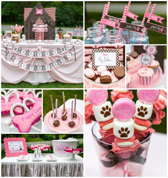 Puppy Birthday Decorations  Kara s Party Ideas Pink Puppy Party Planning Ideas