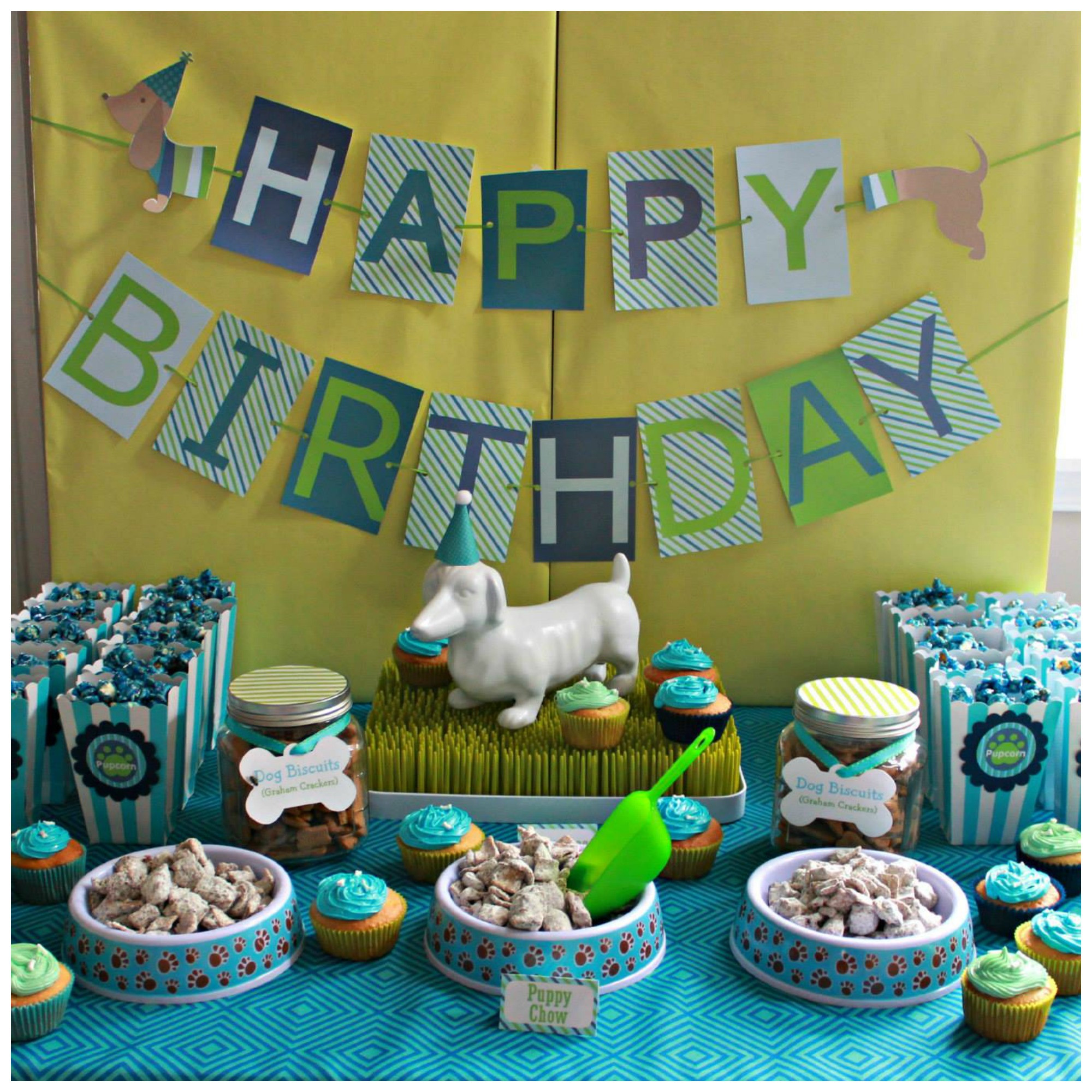 Puppy Birthday Decorations  Hot Dog Puppy 1st Birthday Party Project Nursery