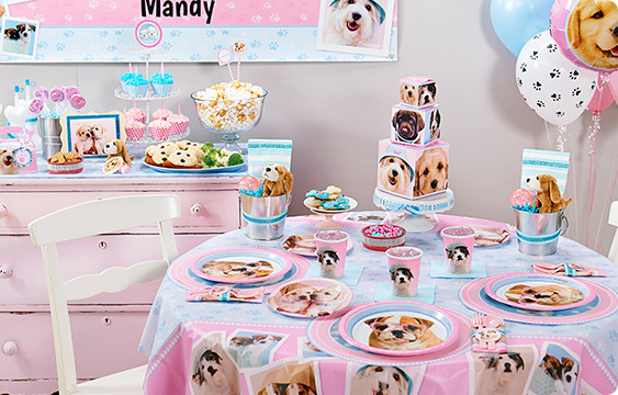 Puppy Birthday Decorations  Rachaelhale Glamour Dogs Party Supplies