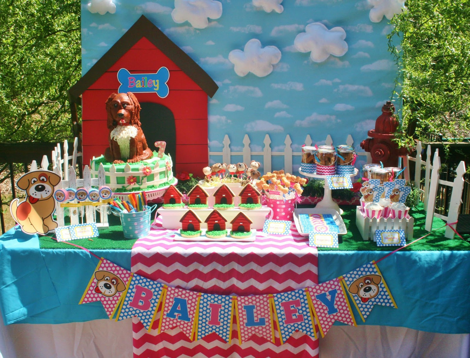 Puppy Birthday Decorations  And Everything Sweet Bailey s Puppy Party