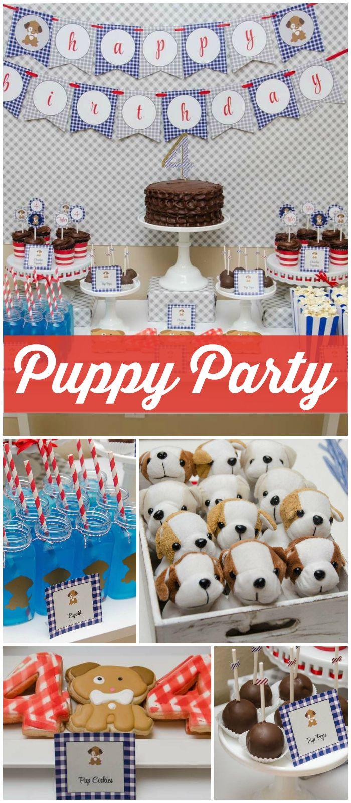 Puppy Birthday Decorations  Best 25 Puppy birthday parties ideas on Pinterest