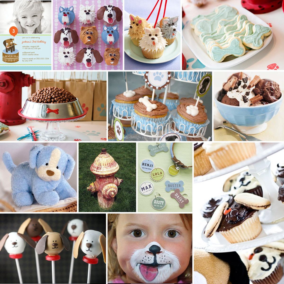 Puppy Birthday Decorations  CAKE Creative Co custom inspiration board a puppy party