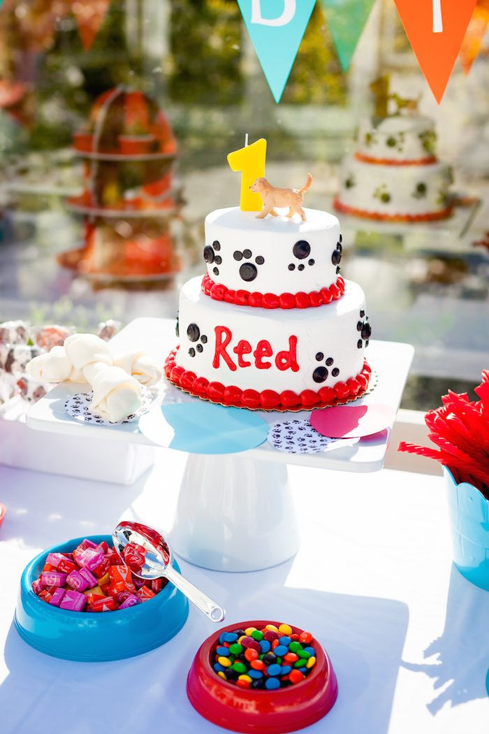 Puppy Birthday Decorations  Kara s Party Ideas Puppy Themed 1st Birthday Party