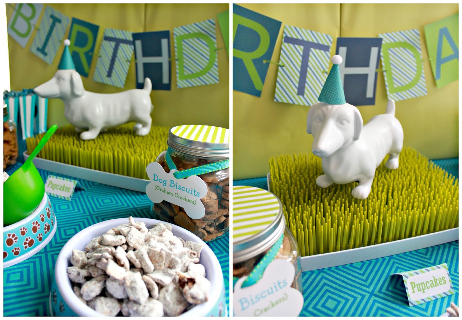 Puppy Birthday Decorations  It s a Pawty Puppy Party First Birthday Part 1