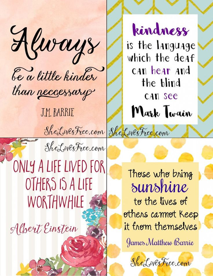 Quote For Kindness  Free Printable Quotes to Inspire Kindness Use as lunchbox