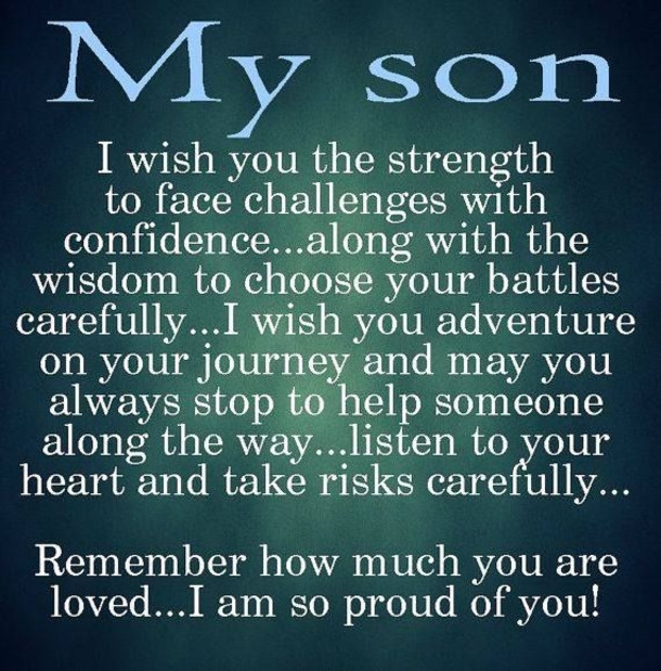 Quote For Son From Mother  10 Best Mother And Son Quotes