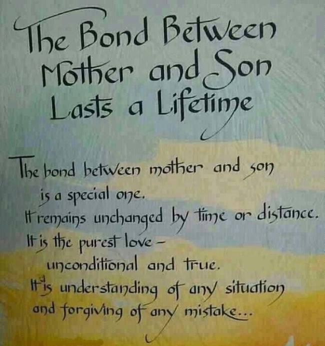 Quote For Son From Mother  20 Mother and Son Quotes Quotes Hunter