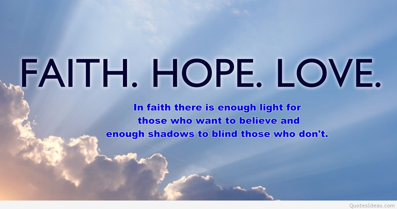 Quotes About Faith And Love  Faith is like a seed plant it in your heart God gives