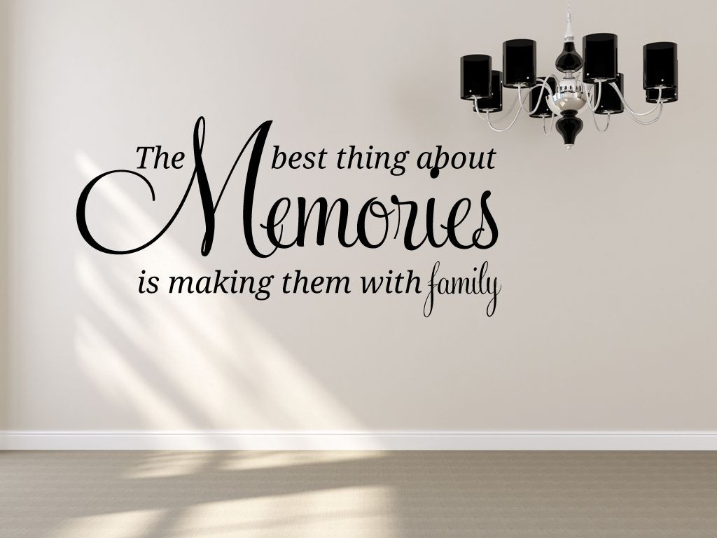 Quotes About Making Memories With Family  Family quote The best thing about Memories Is making