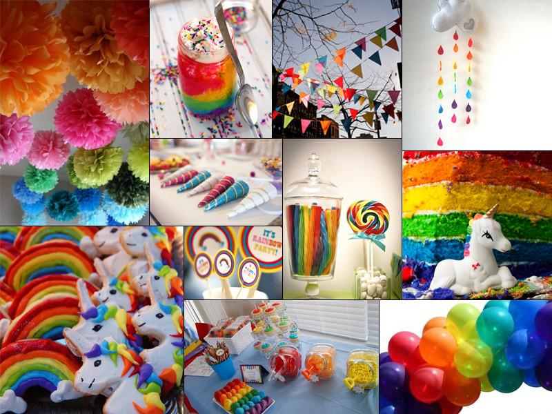 Rainbow And Unicorn Party Ideas  Inspiration Enchanted Unicorn & Rainbow Birthday Party