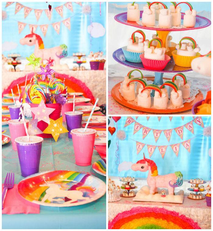Rainbow And Unicorn Party Ideas  Kara s Party Ideas Rainbow Unicorn Birthday Party