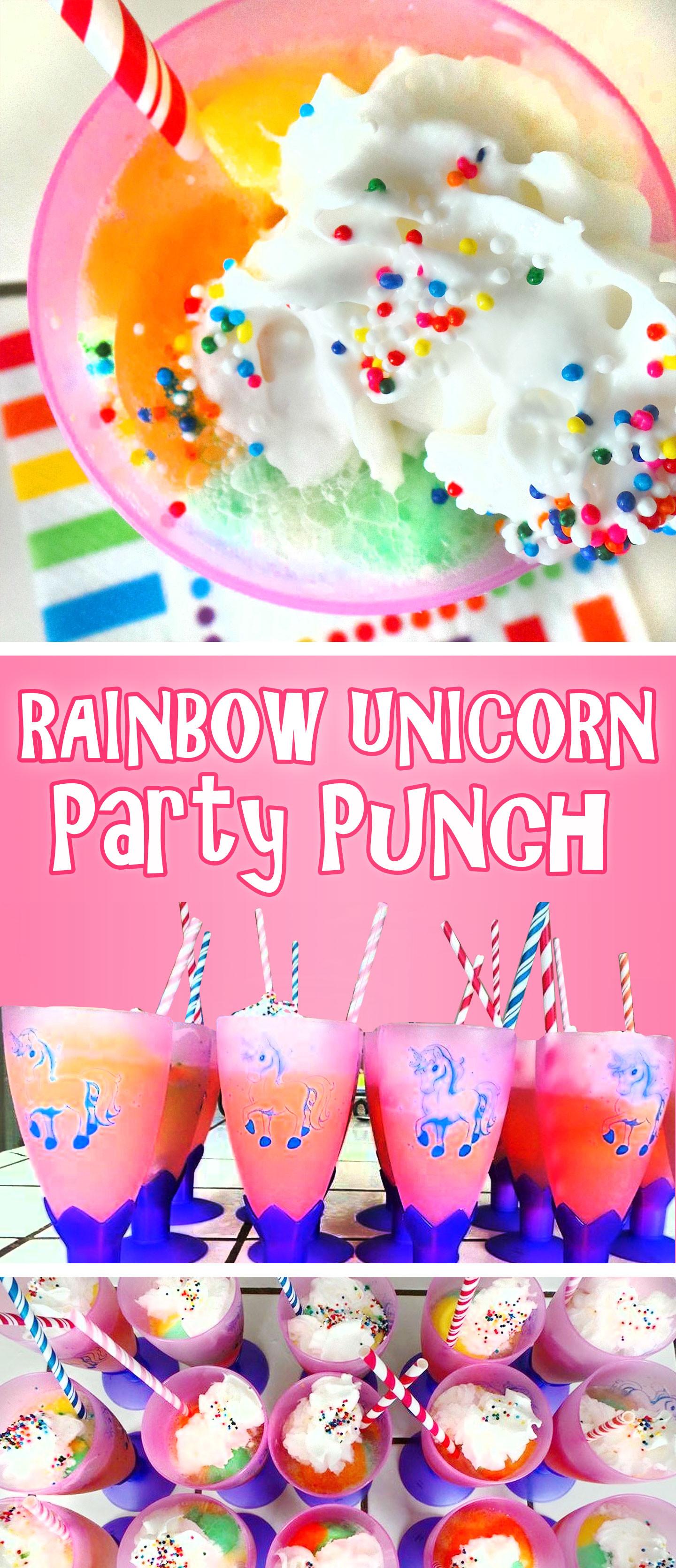 Rainbow And Unicorn Party Ideas  Rainbow Unicorn Party Punch