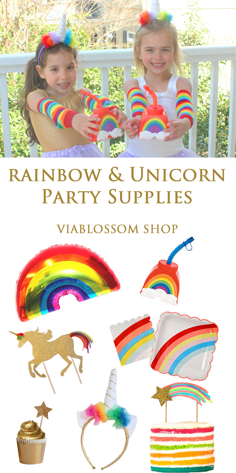 Rainbow And Unicorn Party Ideas  Must Have Rainbow and Unicorn Party Supplies Via Blossom