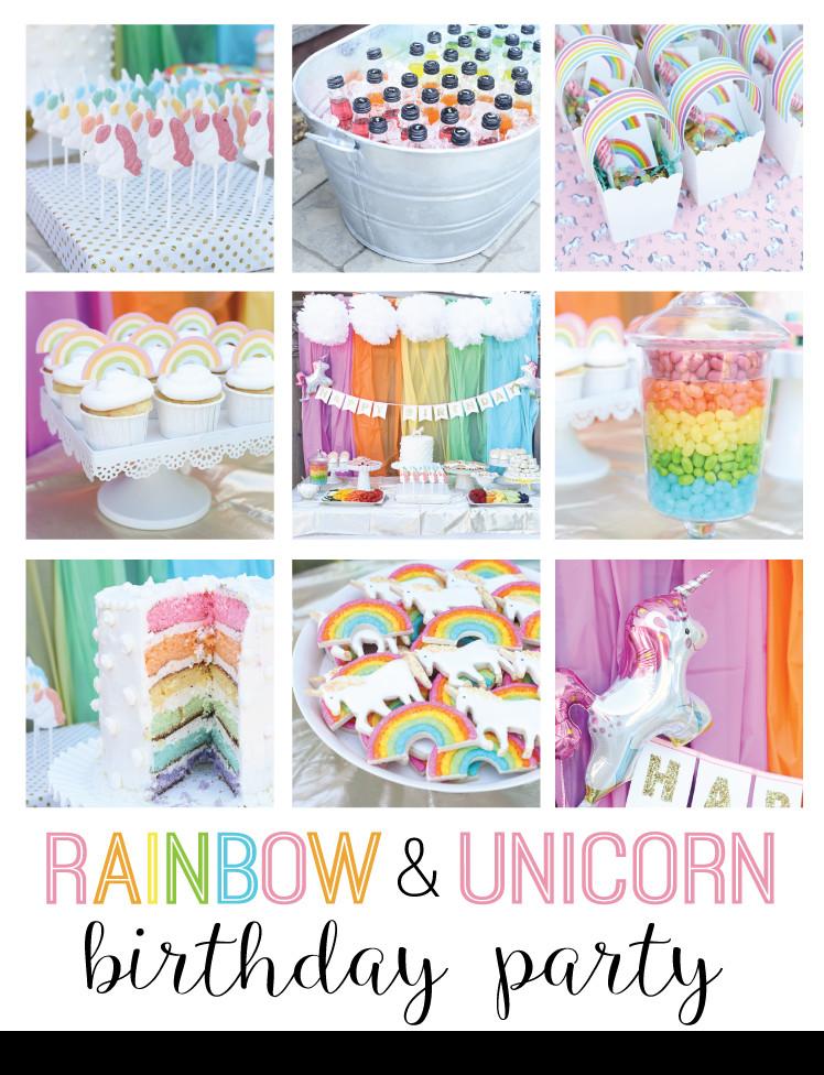 Rainbow And Unicorn Party Ideas  unicorn and rainbow birthday party