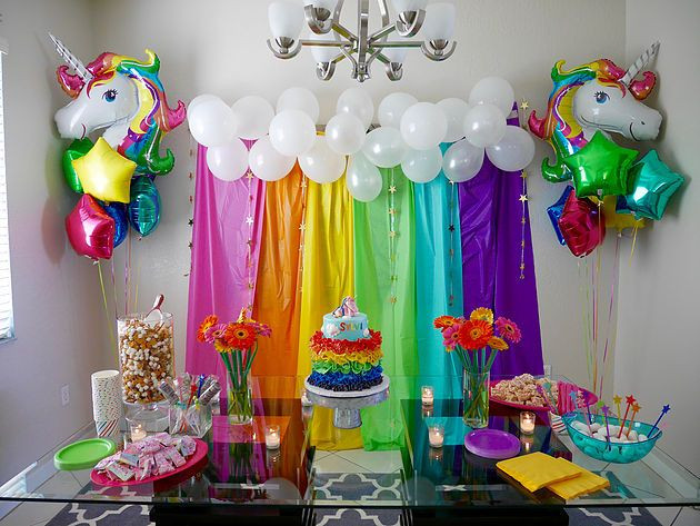 Rainbow And Unicorn Party Ideas  Best 25 Rainbow unicorn party ideas on Pinterest
