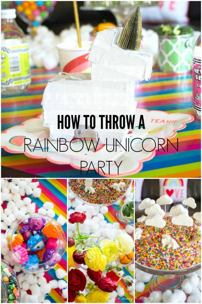 Rainbow And Unicorn Party Ideas  Rainbow Unicorn Party Ideas Moms & Munchkins